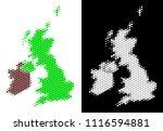 pixel halftone great britain... | Shutterstock .eps vector #1116594881