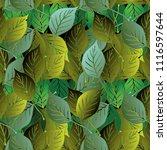 green leafy vector seamless...   Shutterstock .eps vector #1116597644