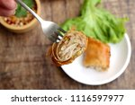 spring roll with dipping sauce | Shutterstock . vector #1116597977
