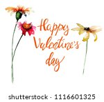 beautiful flowers with title... | Shutterstock . vector #1116601325
