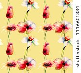 seamless wallpaper with wild... | Shutterstock . vector #1116601334