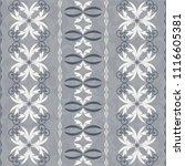 seamless damask pattern.... | Shutterstock .eps vector #1116605381