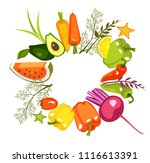 vector image of a circle of... | Shutterstock .eps vector #1116613391