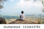 man wear white t shirts.... | Shutterstock . vector #1116613781