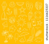 set of summer icons in retro... | Shutterstock .eps vector #1116625337