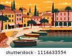 mediterranean romantic... | Shutterstock .eps vector #1116633554