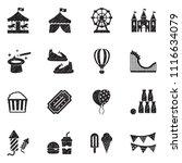 amusement park icons. black... | Shutterstock .eps vector #1116634079