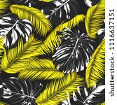 tropic seamless pattern with... | Shutterstock .eps vector #1116637151