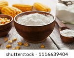 starch and corn cob on the table   Shutterstock . vector #1116639404