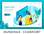 vector concept illustration   ... | Shutterstock .eps vector #1116641387