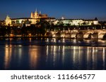 cityscape of prague with castle ... | Shutterstock . vector #111664577