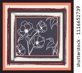 silk scarf with flowers lines... | Shutterstock .eps vector #1116652739