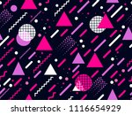 memphis seamless pattern.... | Shutterstock .eps vector #1116654929