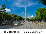 obelisk and obelisk square ...   Shutterstock . vector #1116660797