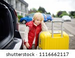 tired toddler boy ready for... | Shutterstock . vector #1116662117