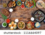 barbecue picnic in honor of... | Shutterstock . vector #1116664097