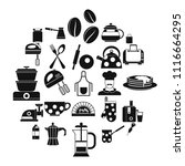 delicate meat icons set. simple ... | Shutterstock .eps vector #1116664295