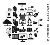 telephone base icons set....   Shutterstock .eps vector #1116664355