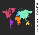 world map vector | Shutterstock .eps vector #1116664934