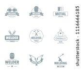 metallically facility logo set. ...   Shutterstock .eps vector #1116666185