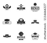 sash logo set. simple set of 9...   Shutterstock .eps vector #1116666227