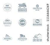 serv logo set. simple set of 9... | Shutterstock .eps vector #1116666269