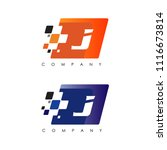 j letter automotive racing logo | Shutterstock .eps vector #1116673814