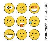 set of smile icons. emoji.... | Shutterstock .eps vector #1116680201
