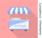street ice cream icon. flat...   Shutterstock .eps vector #1116681671