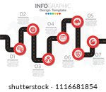 professional timeline with... | Shutterstock .eps vector #1116681854