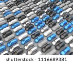 3d rendering  many parked cars | Shutterstock . vector #1116689381