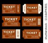 ticket set icon vector... | Shutterstock .eps vector #1116694301