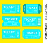 ticket set icon vector... | Shutterstock .eps vector #1116694307