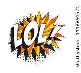 abbreviation lol   laugh out... | Shutterstock .eps vector #1116694571