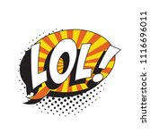 abbreviation lol   laugh out... | Shutterstock .eps vector #1116696011