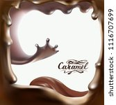 liquid chocolate  caramel or... | Shutterstock .eps vector #1116707699