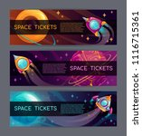 cool space horizontal banners... | Shutterstock .eps vector #1116715361
