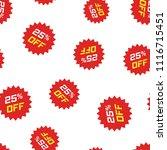 discount sticker icon seamless... | Shutterstock .eps vector #1116715451