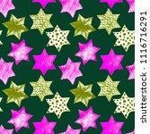 seamless watercolor stars... | Shutterstock . vector #1116716291