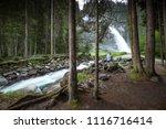 man watching at krimml...   Shutterstock . vector #1116716414