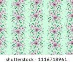 watercolor floral pattern ... | Shutterstock . vector #1116718961