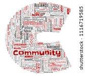 vector conceptual community ... | Shutterstock .eps vector #1116719585