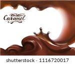liquid chocolate  caramel or... | Shutterstock .eps vector #1116720017