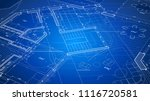 architectural blueprint   the... | Shutterstock .eps vector #1116720581