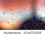 water rain drops on the window...   Shutterstock . vector #1116722255