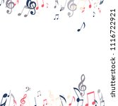 falling musical signs. abstract ... | Shutterstock .eps vector #1116722921