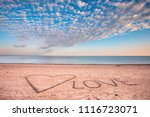 view of the sea and the beach...   Shutterstock . vector #1116723071
