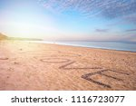 view of the sea and the beach...   Shutterstock . vector #1116723077