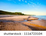 view of the sea and the beach...   Shutterstock . vector #1116723104