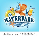vector illustration of 3d screw ... | Shutterstock .eps vector #1116732551